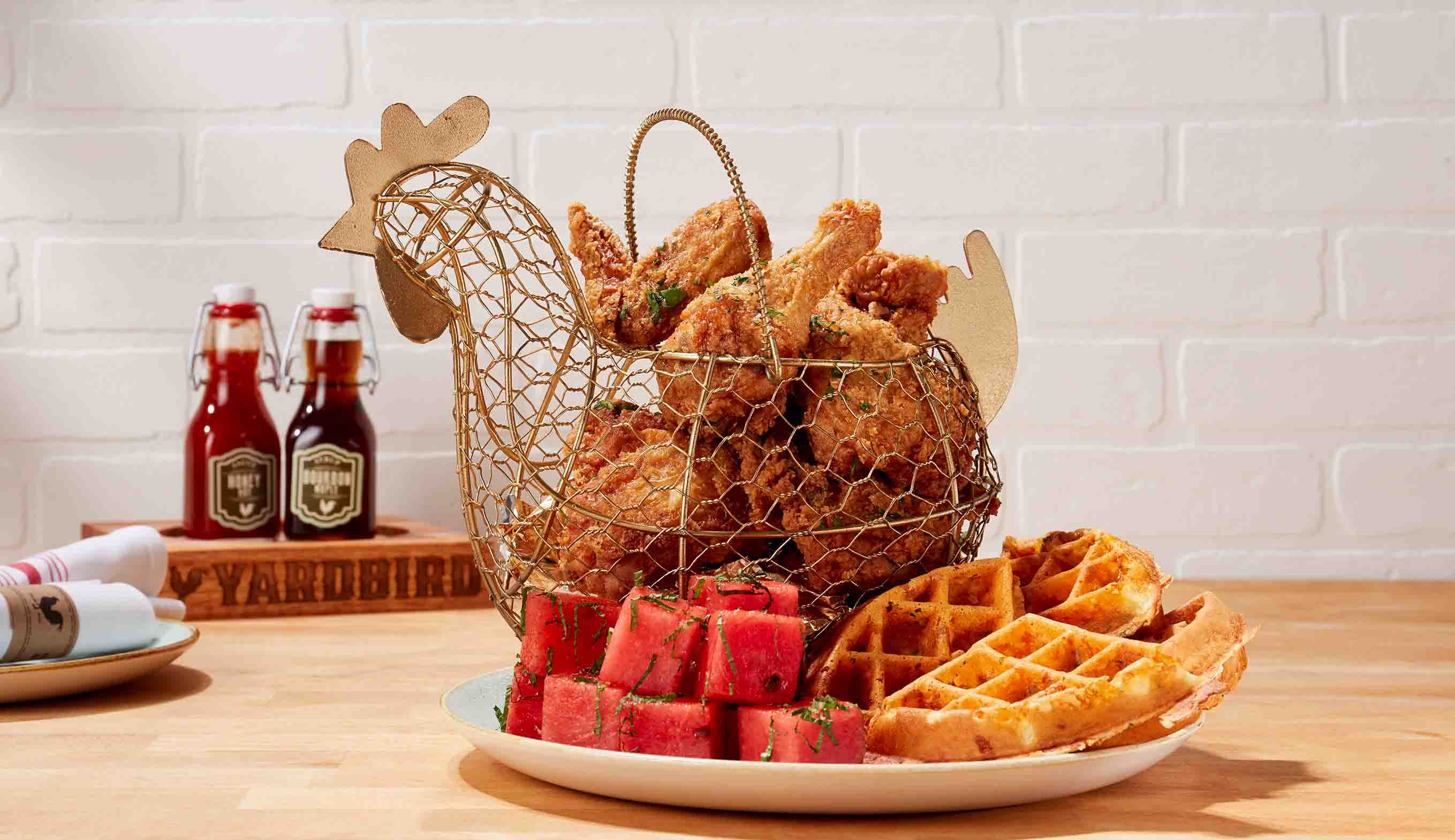 Chicken 'N' Watermelon 'N' Waffles (S$40++)