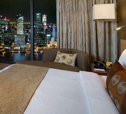 Hotel amenities for hotel guests at Marina Bay Sands