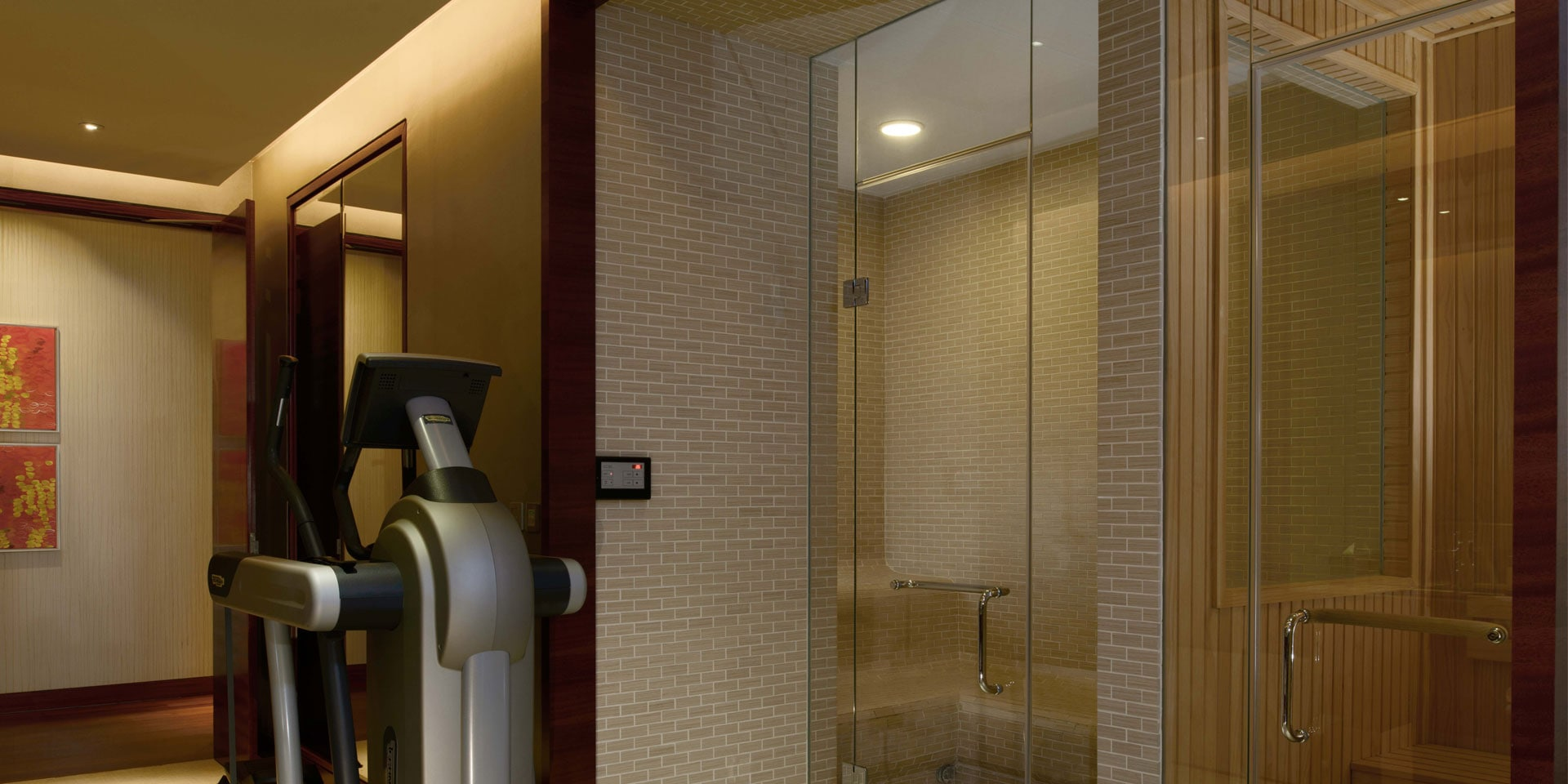Straits Suite Gym and Sauna Room at Marina Bay Sands
