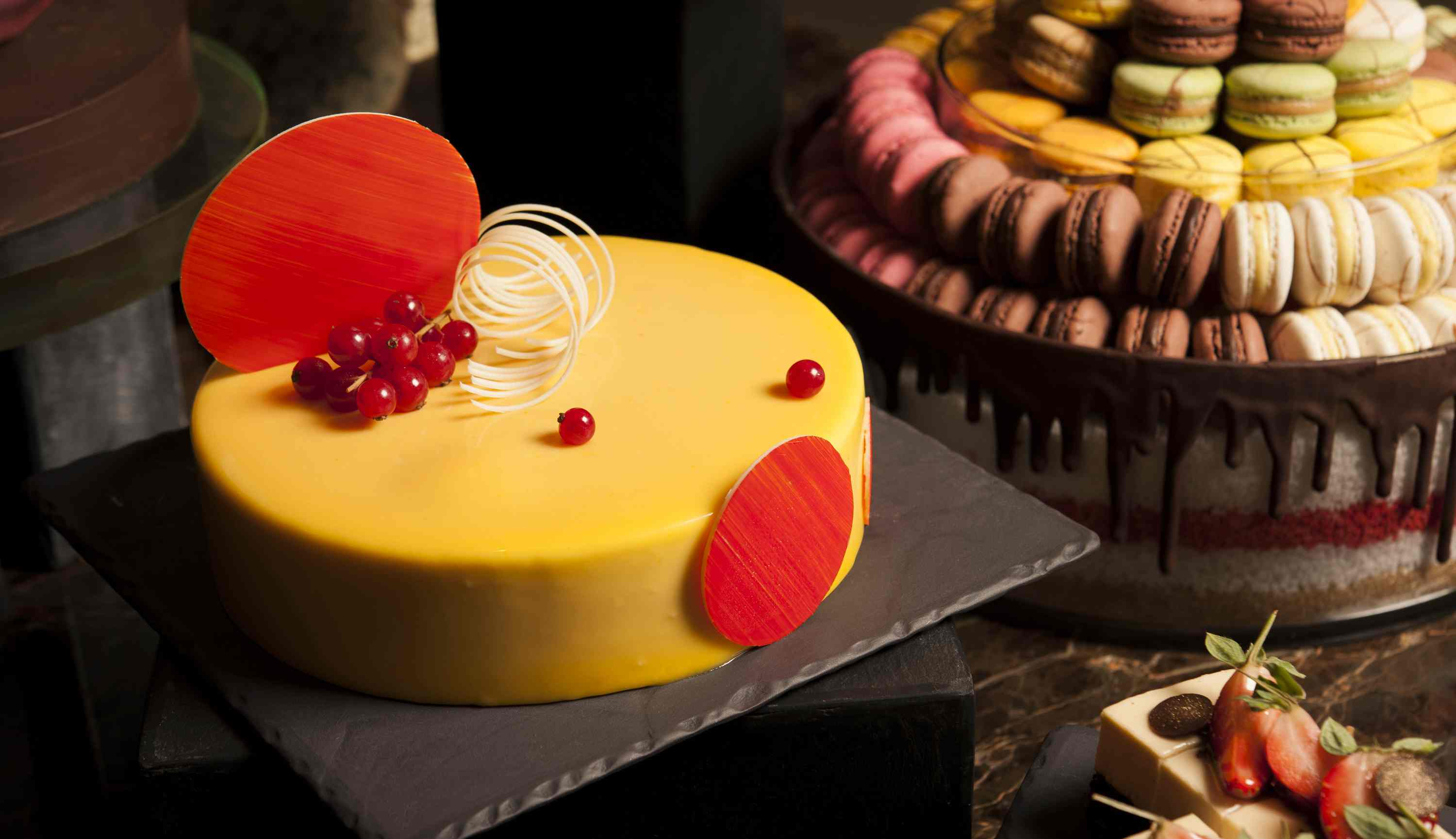 Club55 – Cheese and Chocolate Buffet, Passionfruit White Chocolate Mousse Cake