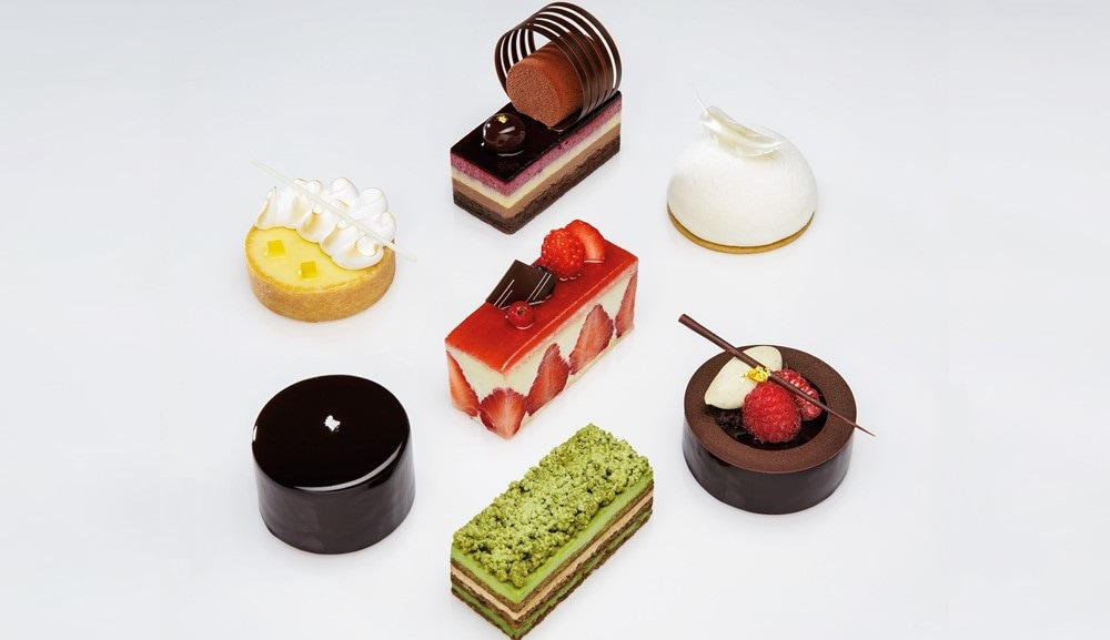 Selection of pastries at Patisserie Platine by Waku Ghin, available at RISE lounge