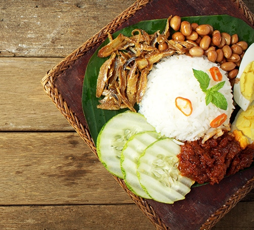 Nasi Lemak, Traditional Breakfasts in Singapore, Foodie Guide, Marina Bay Sands