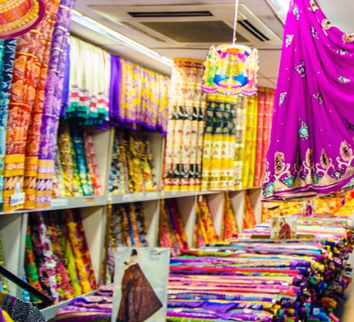 Fabric store in Little India, Singapore