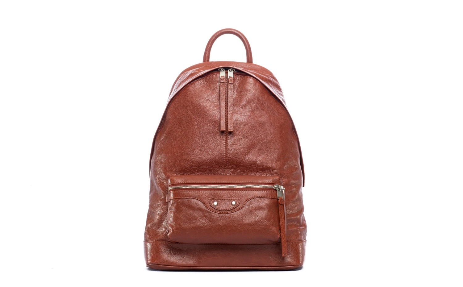 Balenciaga: Classic backpack in Rouge Rouill