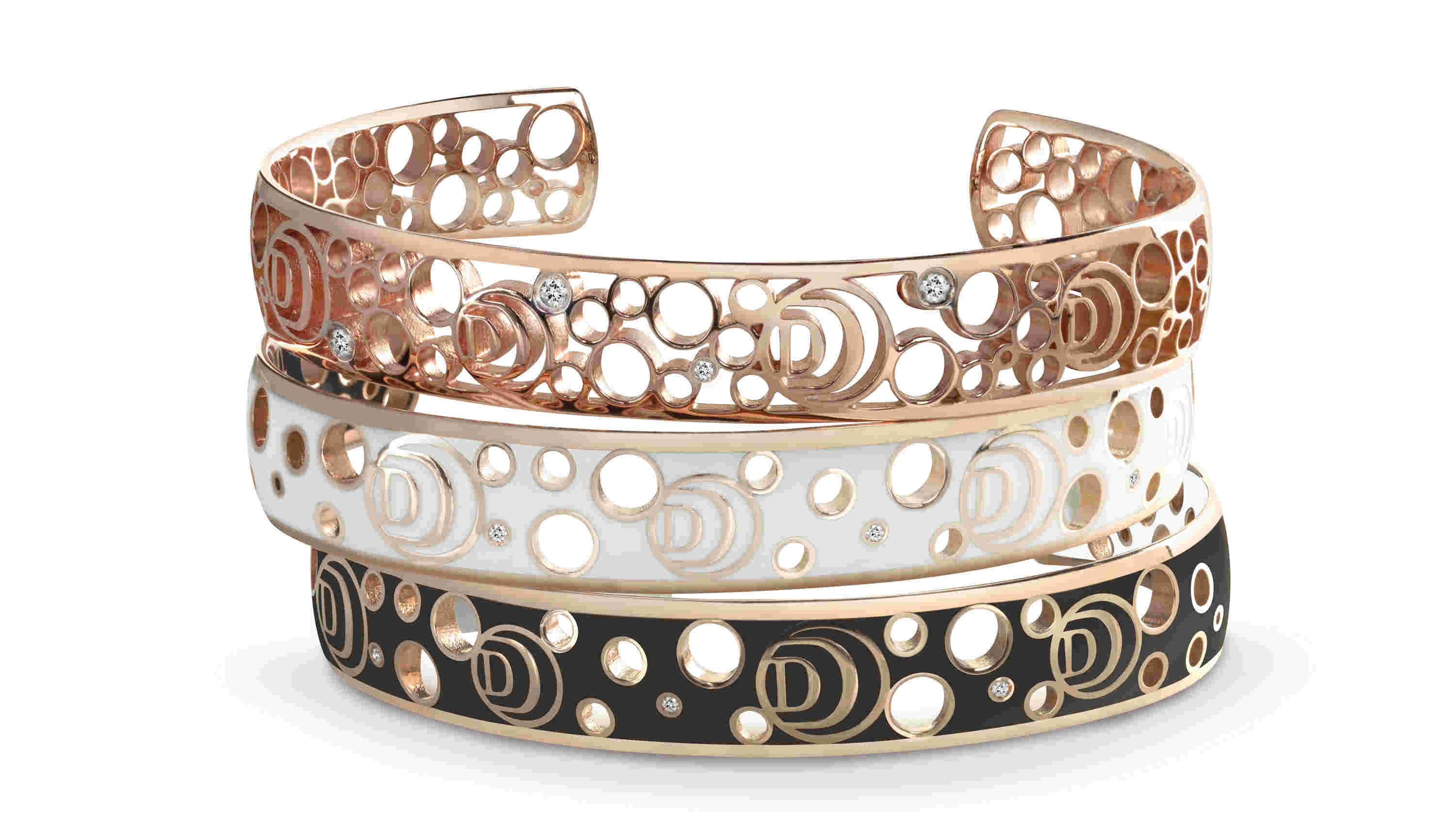 Damiani Damianissima Bracelets in Pink Gold and Ceramic