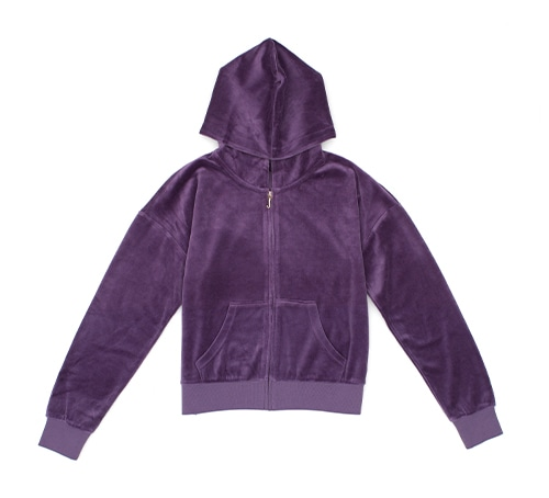 JUICY COUTURE Crown Pattern Hoodie Jacket
