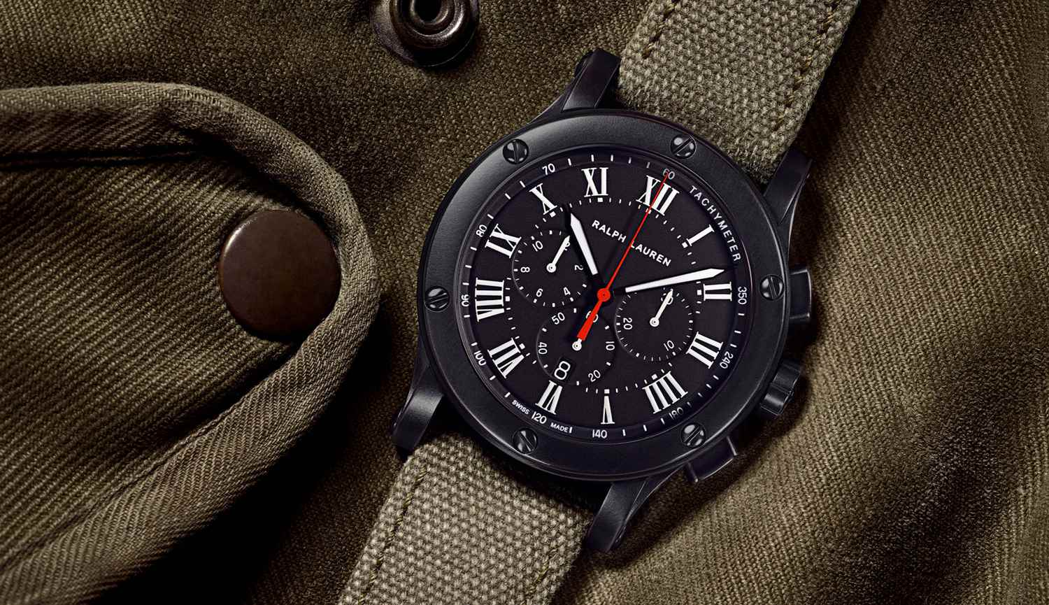 Ralph Lauren Black Safari Chronograph